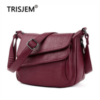 8576419bc Summer Red Bag 2019 Soft Quality PU Leather Luxury Handbags Women Bags  Designer Shoulder Bags For