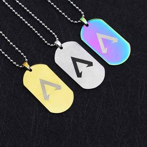 Image 2 - Hot game Apex legends colors necklace stainless steel Engraved Logo Pendants action figure toy gifts