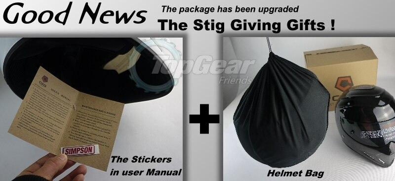 Для TopGear шлем Стига Capacete Casco De/Bag + наклейка Simpson для подарков/белый мотоциклетный шлем с красочным козырьком Racing - 3