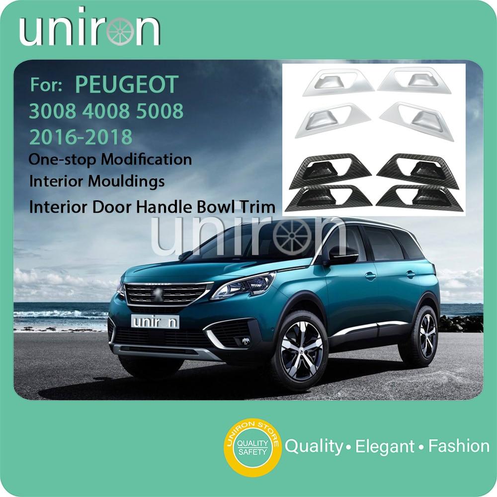 For Peugeot 4008 2012-2016 ABS Chrome Inner Stereo High Speaker Cover Trims 4pcs