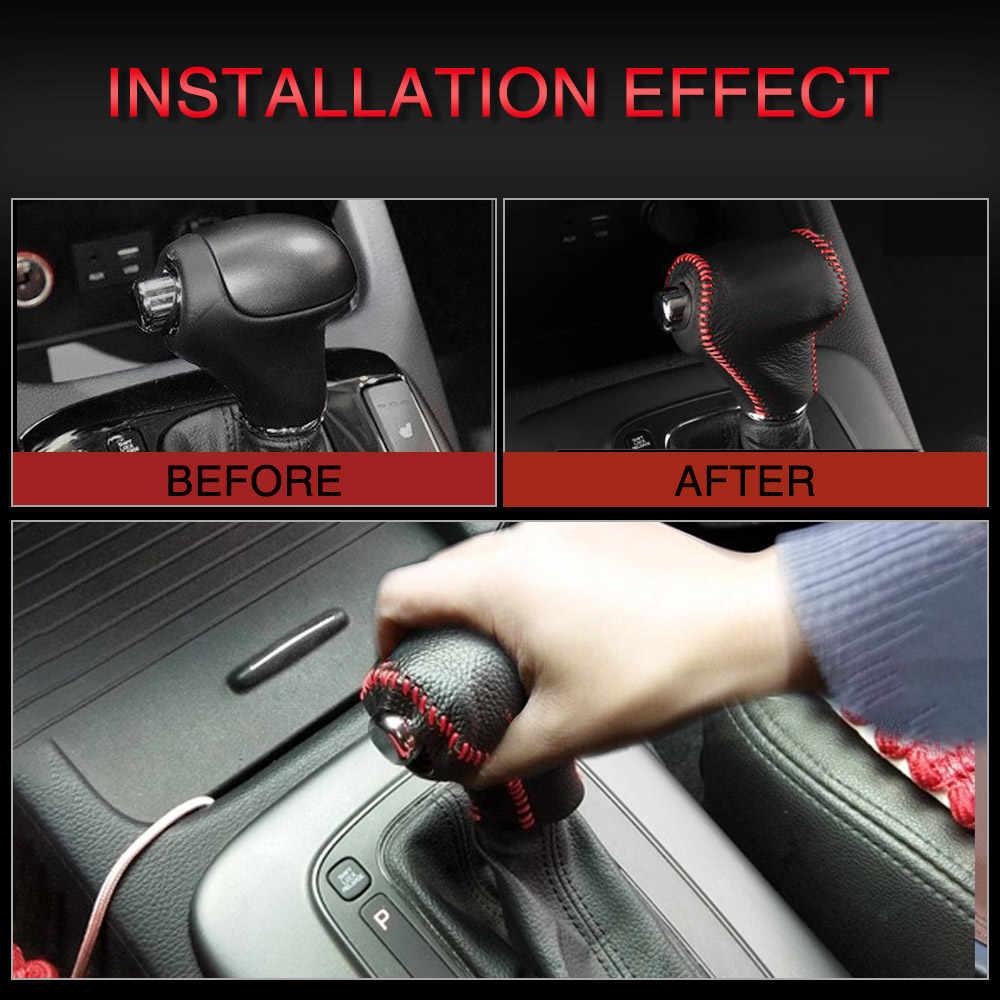 AUXITO רכב Gear Shift Knob ראש מכסה Gear Shift קולרים מקרה עבור Kia Sportage R Cerato K3 K5 סורנטו 2011 2012 2013 2014 2015