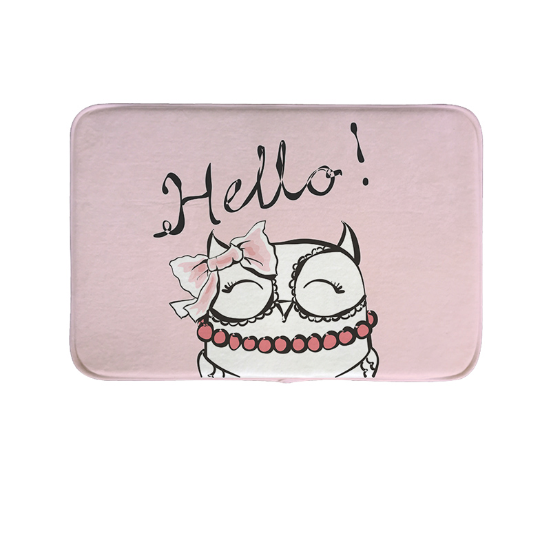 Cute Animal Printed Carpet Rug Modern Floor Mat Bathroom Cartoon Square Fashion Rug Kitchen Home Doormat Gift for Livingroom O