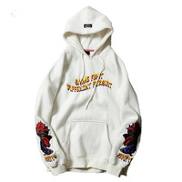 2018 Goldfish Embroidery hoodies men hip hop streetwear winter spring fleece warm casual korean japanese Pullover men hoodies