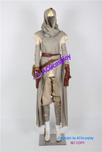Star wars The Force Awakens Rey Cosplay Costume include bag ACGcosplay comic anime game cosplay