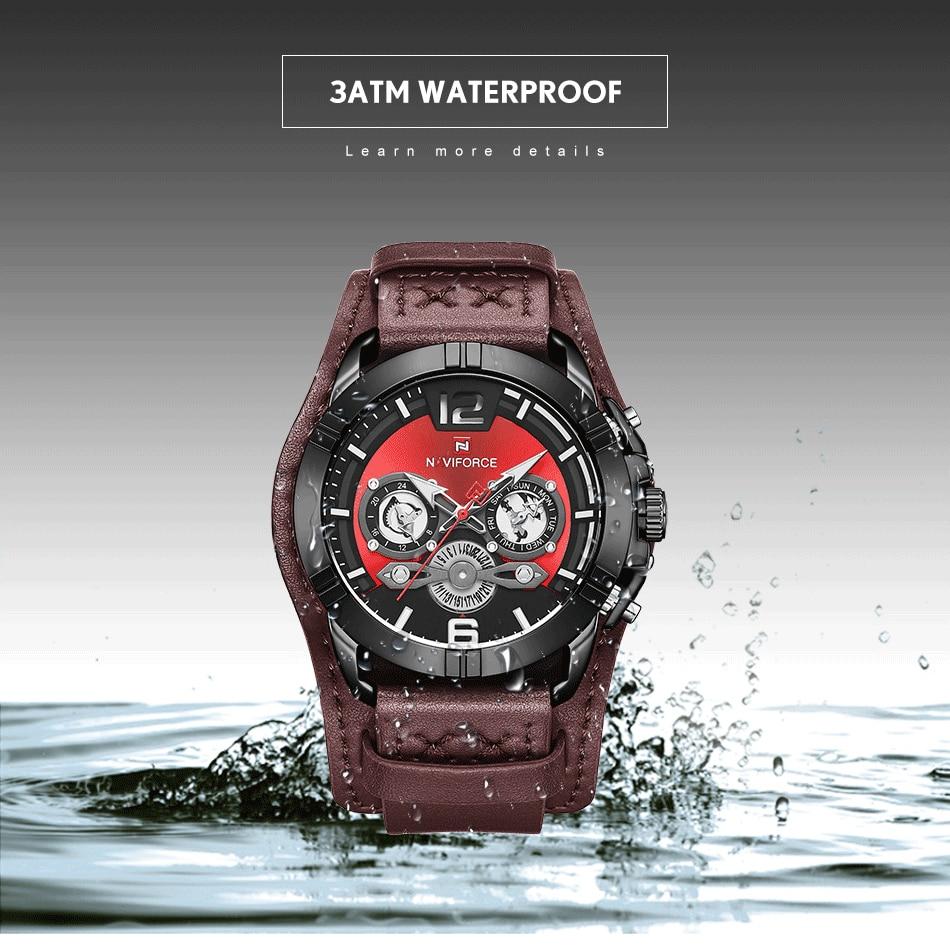 jpg Naviforce Men Watch Leather Army Military Retro Steampunk Sports Male Quartz Watch Wristwatch With Date Hodinky Relojes Hombre (5)
