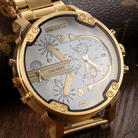 Mens WatchesTop Brand Luxury Fashion Watches Steel Straps Gold Large Watches Military Sports Male Clock Relogio
