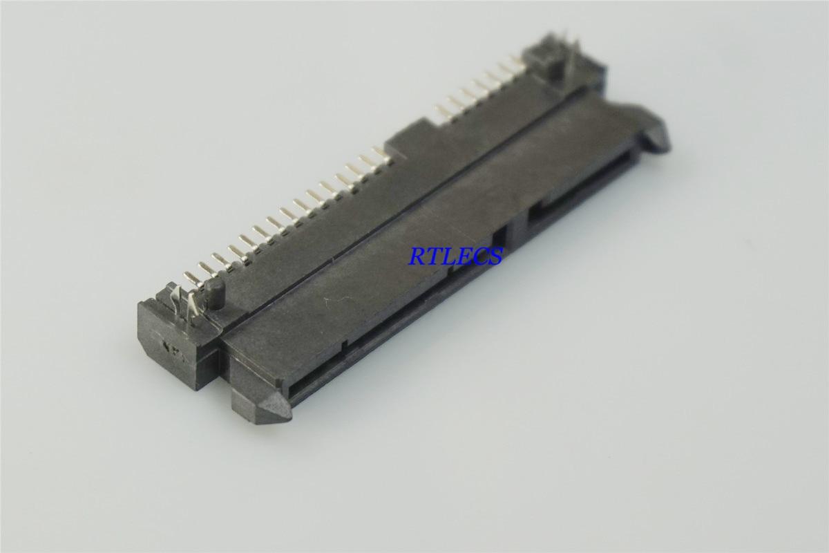 2Pcs New Sata 7+15 Pin 22 Pin Right Angle DIP Type Male Connector