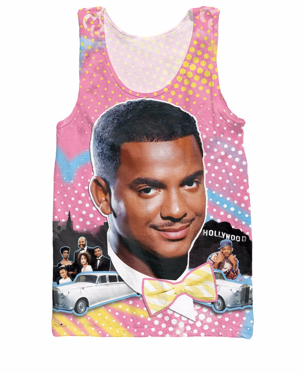 RuiYi So Fresh Banks Tank Top Alfonso Lincoln Ribeiro Fresh Prince of Bel Air Sexy Women Vest Men Jersey Casual Tops tee