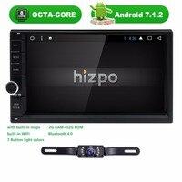 2 DIN 7 дюймов Android 7.1 Универсальный Автомобильный нет dvd плеер Octa Core Bluetooth автомобиля Радио GPS навигации 4 Gwifi сабвуфер стерео Cam BT