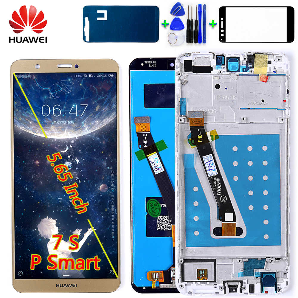 Huawei P Smart 5.65 inch touch screen LCD display For Huawei Enjoy 7S Digitizer Sensor Assembly 2160*1080 Frame with Free tools