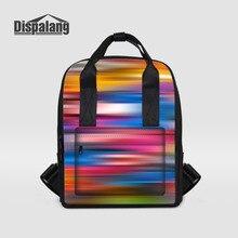 Dispalang дизайнерские женские рюкзак красочным принтом женская мода рюкзак дамы Обратно Мешок Большой capackty школьная сумка для девочек