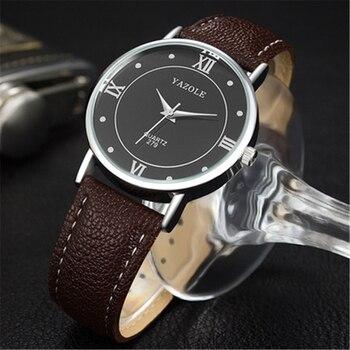 a041ac0df95 Yazole 279 Мода Для мужчин часы Для женщин Элитный бренд кварцевые Для мужчин  Наручные часы пара Водонепроницаемый Повседневное часы человек .