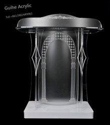 Displays2go stojący mówiąc Podium, skośne Top, szybki montaż teatr meble