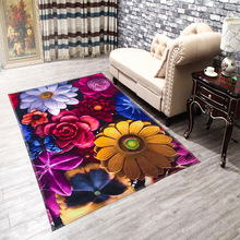 3D Floral Rose Carpet Printed Area Rug For Living Room Yoga Mat Bedroom Rugs Home Decoration Child Play Pad Door Mats