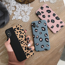 Fashion Leopard Print Phone Case For iphone XS Max XR X Case For iphone 6 6s 7 8 plus Back Cover Luxury Soft Cases Colorful Capa(China)