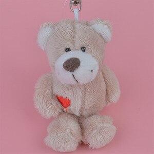 3 Pcs Dark Color Bear Small Plush Pendant Toy, Kids Doll Keychain / Keyholder Gift Free Shipping(China)