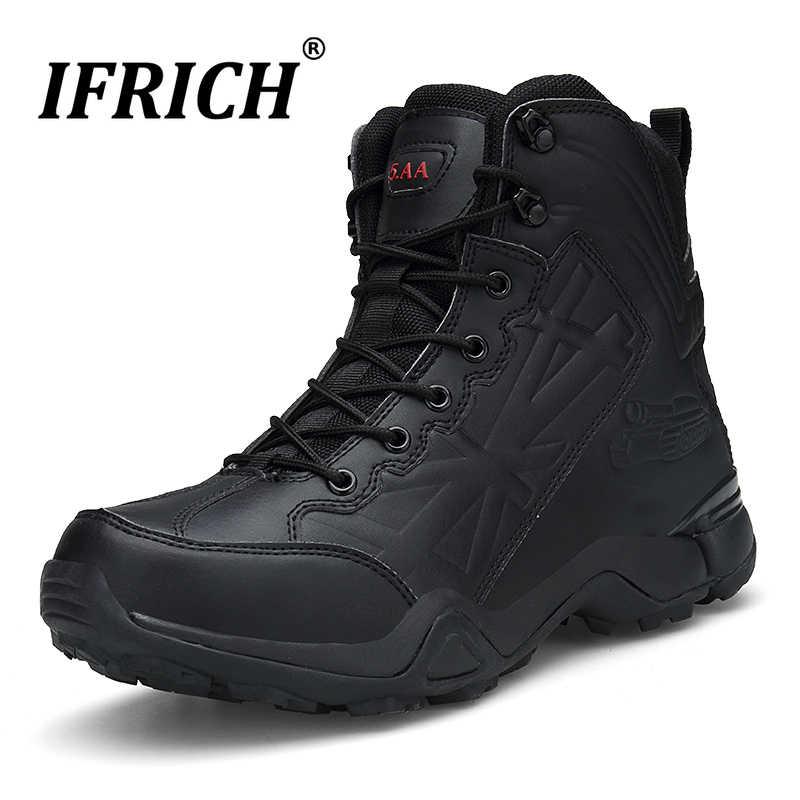 Military Stiefel Männer Kampf Bot Asker Schuhe Leder Stiefel