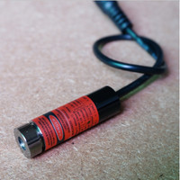 Free Shipping 2pcs Lot High Quality 5mW Horizontal Straight Line Red Laser Module Laser Head Graticule