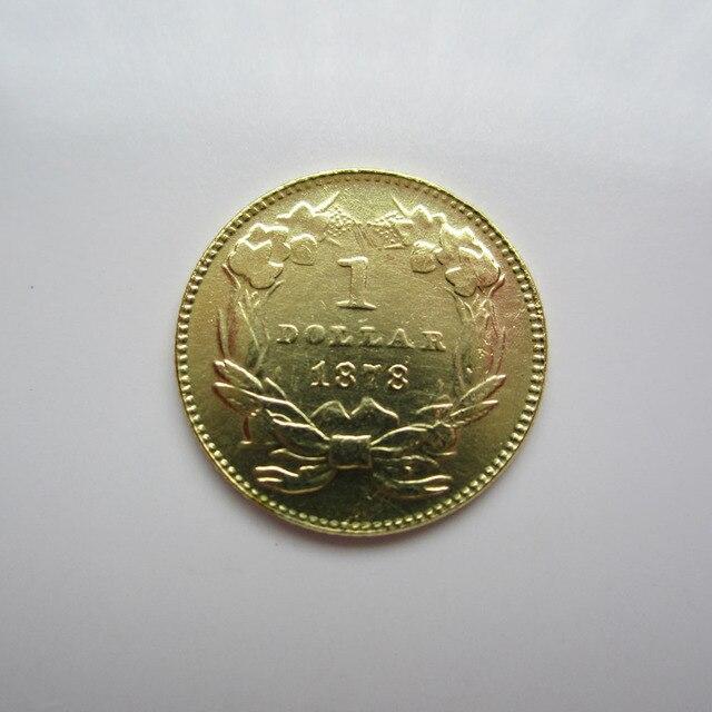 1 Gold 1878 Indische Prinzessin Gold Dollar Münzen Kopieren In 1