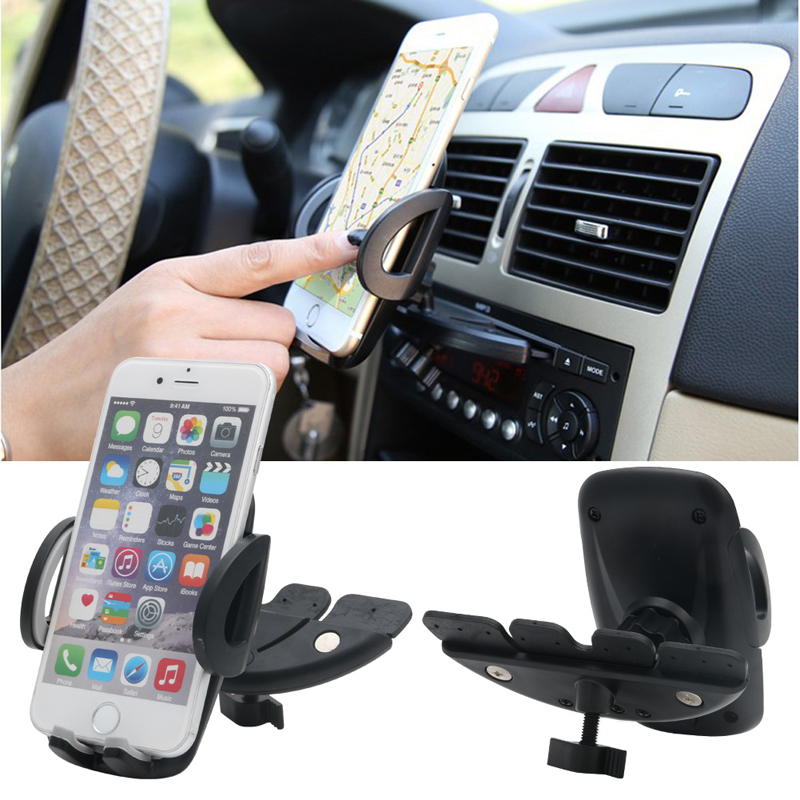 Car Auto CD Player Slot Mount Holder Cradle Stand For Mobile Smart Phone GPS hoco ca5 sucking disc auto clip phone car mount holder