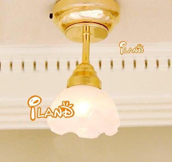 1/12 Dollhouse Miniature Dinning Room Ceiling Lamp LED