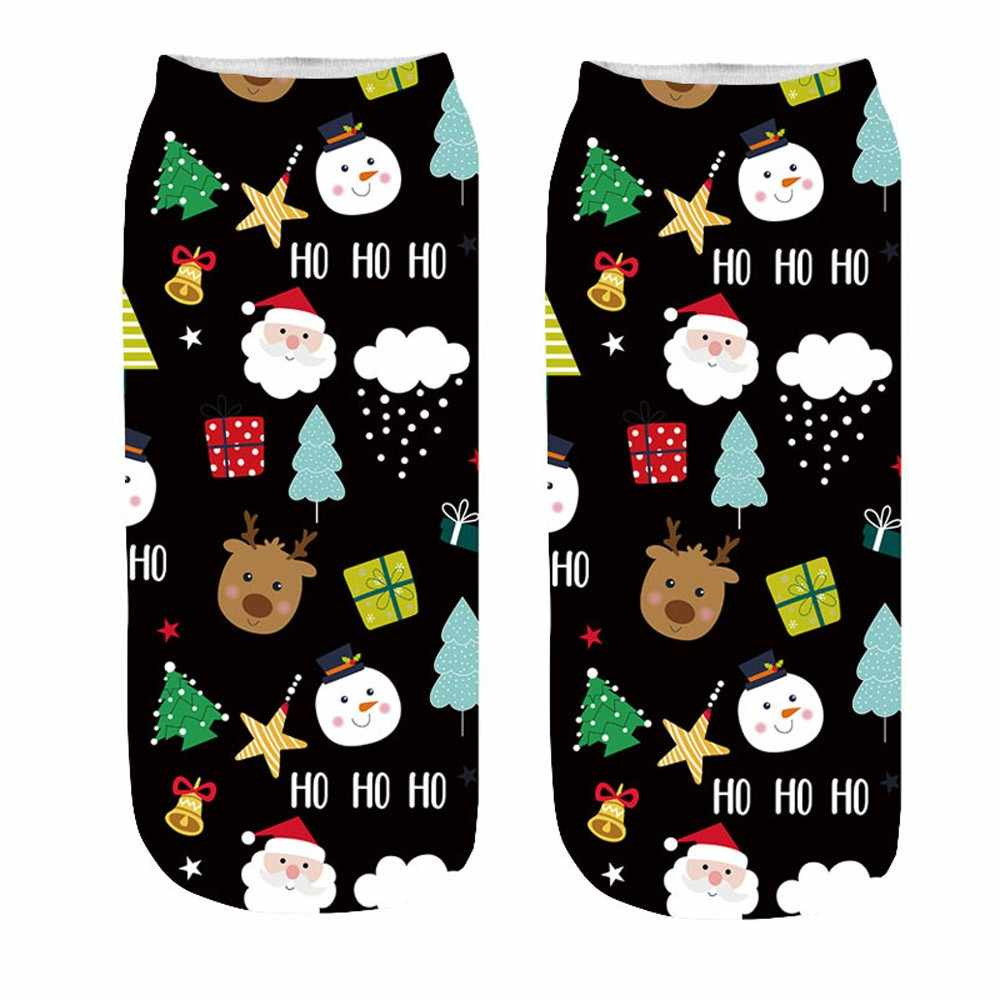 68c84bf13f8c6 ... New Arrival Women's Socks 3D Cartoon Funny Christmas Sock Crazy Cute  Amazing Novelty Print Ankle Socks ...