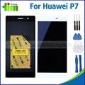 1 pcs para huawei ascend p7 lcd com tela de toque digitador assembléia peças de reposição + ferramentas + adesivo