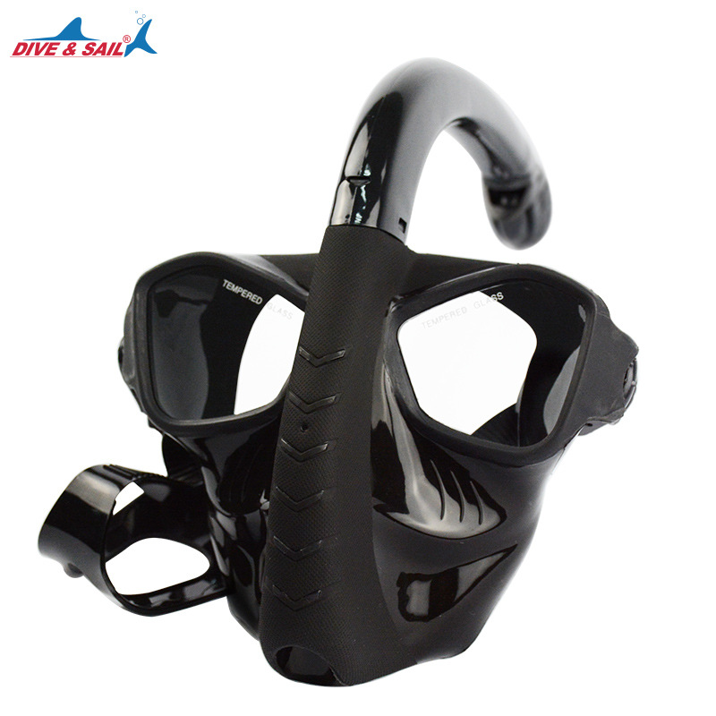 Genuine snorkeling Full Face Diving Mask 180 view curve Panoramic for adult snorkel diving