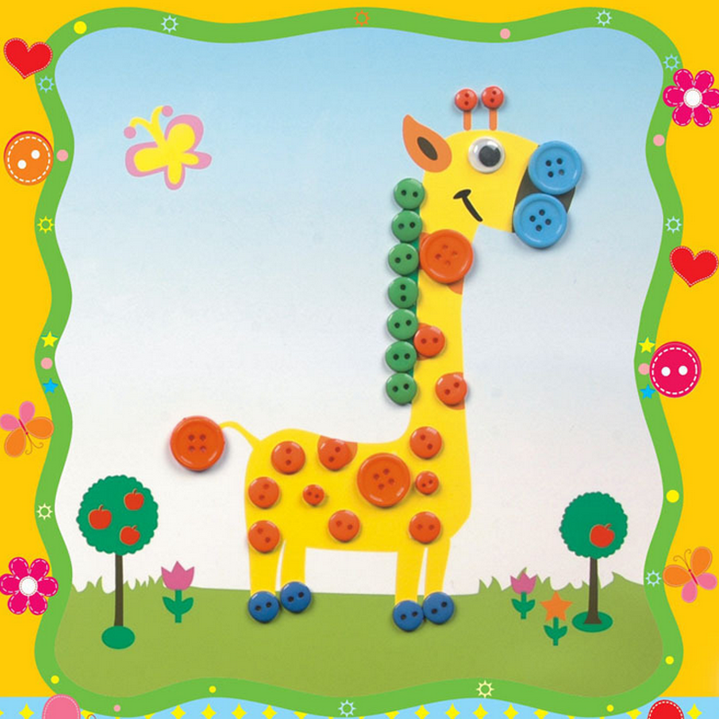 Creative Educational Early Learning DIY Buttons Puzzles