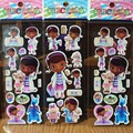 10sheet/lot 3D carton bubble sticker of DOC McStuffins puffy stickers for kids birthday present,party favor