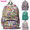 New women School bags for teenagers Girls Waterpoof  Primary School Backpack Graffiti Floral Harajuku Printing Knapsack Rucksack