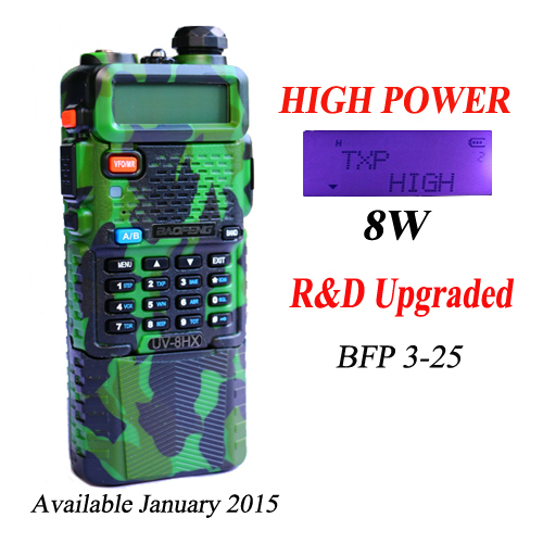 Caliente uv-8hx baofeng walkie talkie de radio portátil con auriculares de botón radio vhf uhf de banda dual baofeng uv82 uv 5r de banda dual de dos vías radio