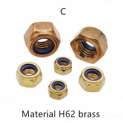 304 สแตนเลสสตีลล็อค M2 M2.5 M3 M4 M5 M6 M8 M10 M12 DIN985 nylon lock nut สกรูยึดแหวน