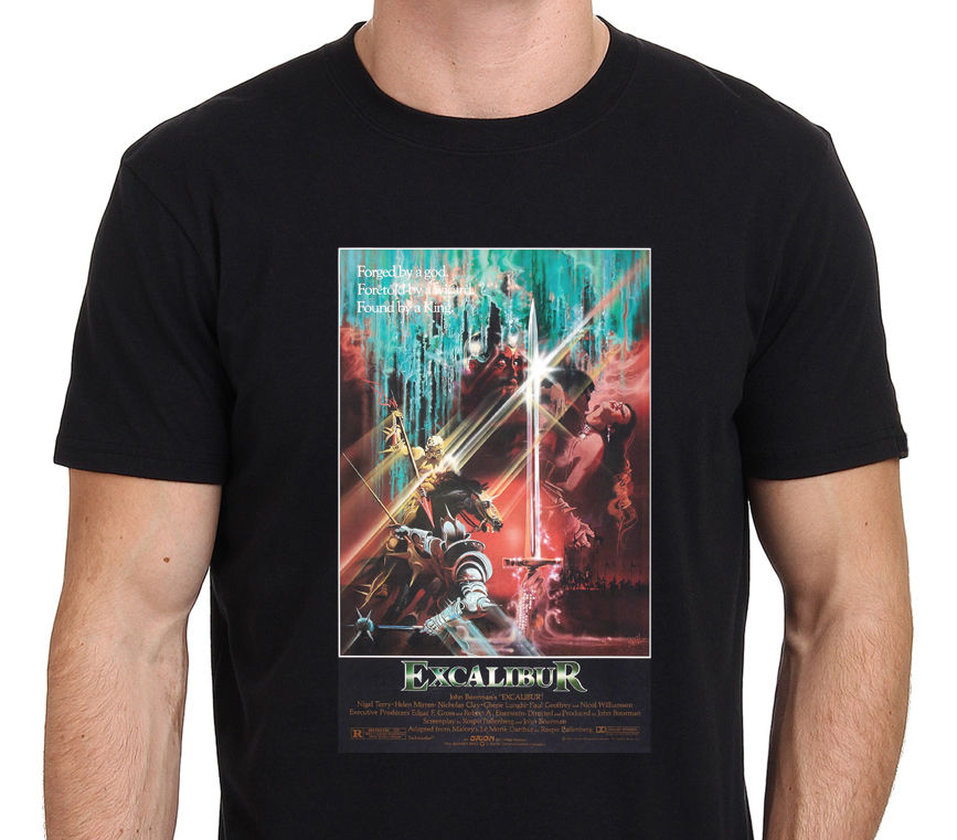 Excalibur король Артур 80-vintage Movie Мужская черная футболка S-XXL