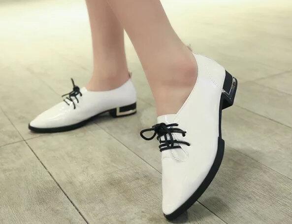 562886a8 Europe Spring 2015 nueva mujer zapatos de punta zapatos bajos zapatos  coreanos poco profunda boca redondo