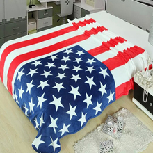 150*200cm Multifunction Blanket Sofa Cover Single Bedsheet Throws British American Flag Plaid flannel fleece