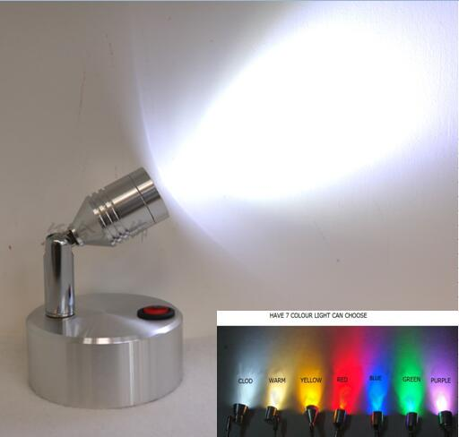 AAA battery LED spotlight emergency lamp aluminum alloy suction cup wall lamp 360 turn portable switch desk lamp HTSD10