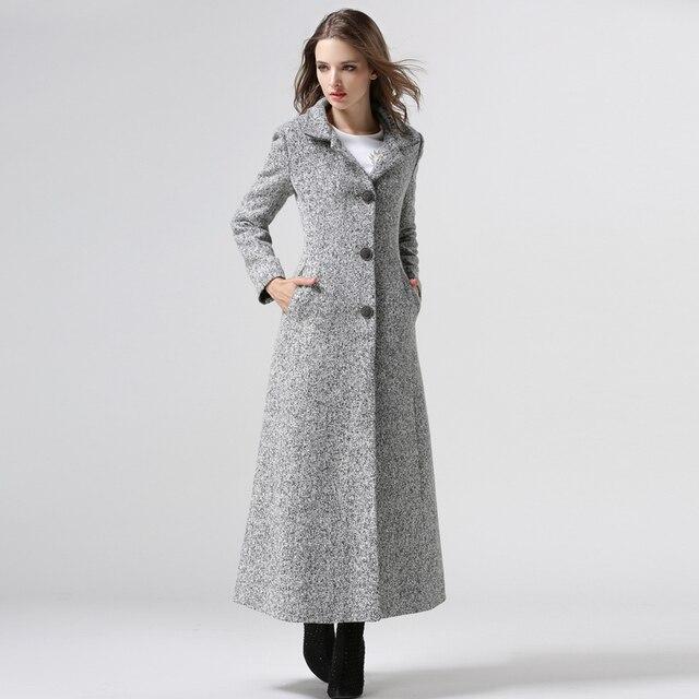 Frauen Winter Mantel 2018 Neue Große Größen Lange Mantel Weibliche