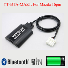 BTA Yatour Bluetooth estéreo del coche Aux Interfaces de adaptador para Mazda 16pin