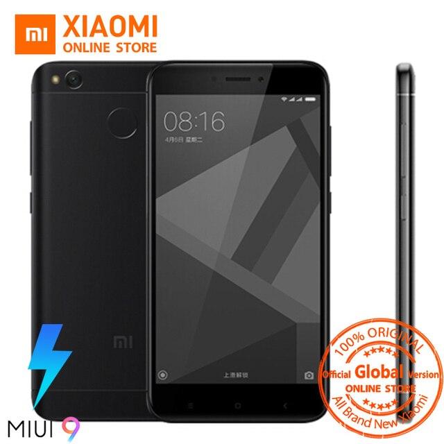 Global Version Xiaomi Redmi 4X Smartphone 3GB RAM 32GB Snapdragon 435 Octa Core CPU Adreno 505 GPU 4100mAh 13MP Camera MIUI 9