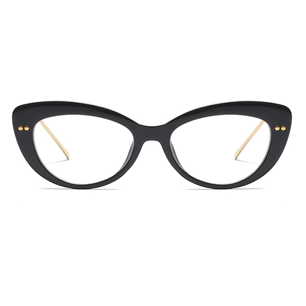 2a436d0c50f Peekaboo clear cat eye glasses frames for women 2019 black leopard fashion  transparent eyeglasses women lady half metal-in Women s Eyewear Frames from  ...