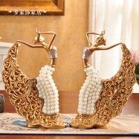 Выставка роскоши украшения тарелка домашний интерьер White Pearl девушка гостиная декоративная тарелка украшения