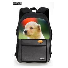 Опрятный Женщины Холст Рюкзаки 3D милый кот собака печати рюкзак детей школьные Bagpack подростков мальчиков Путешествия сумка Mochila