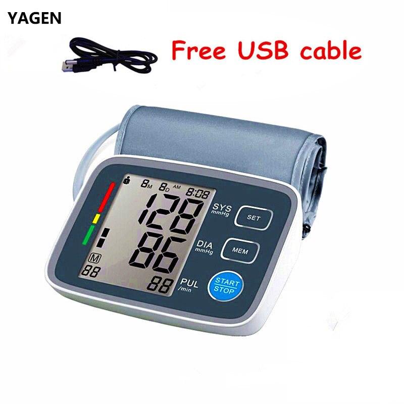 big LCD display Digital Blood Pressure Monitor tonometer sphygmomanometer pulsometros Health Monitor for heart blood