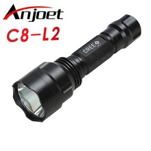 Anjoet 1 mode c8 Tactical flashlight XM-L2 torch led Waterproof light mode 18650 Rechargeable battery for Riding Camping Hiking 1 mode c8 led l2 tactical flashlight cree xml t6 xm l2 torch led waterproof flash light mode 18650 rechargeable battery