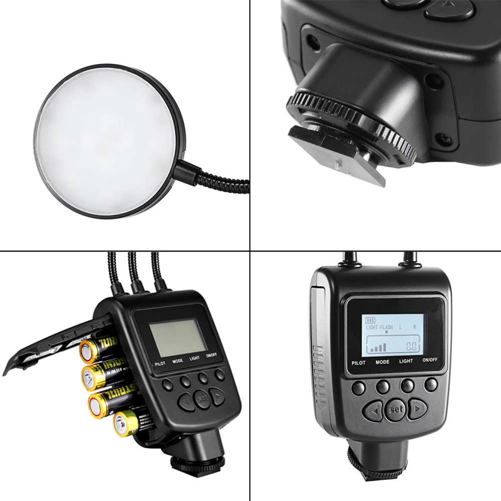 Travor ML-2D מאקרו טבעת פלאש אור עגול אור עבור רוב דגם של Canon Nikon Sony Olympus Pentax Panosonic סוני Mi מקרוב