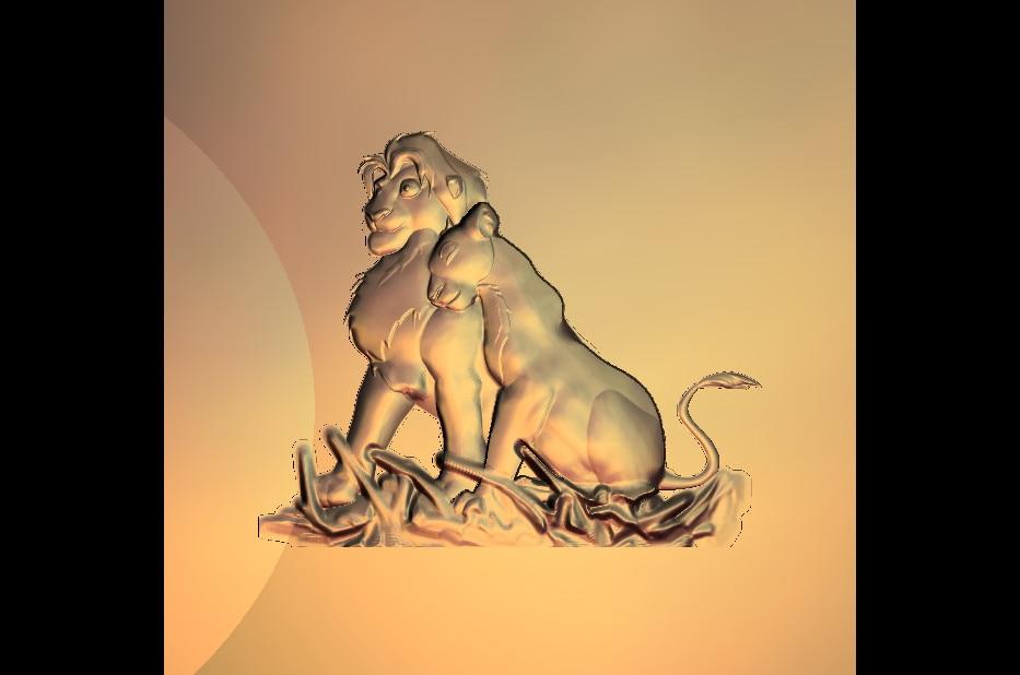3D Model Cartoon Lions Relief For CNC Router Printer Artcam Aspire Type3 STL Format File M441