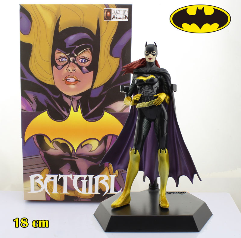 Free Shipping Cool 7 DC Superheroes Batman Batgirl Batwoman Boxed 18cm PVC Action Figure Model Collection Toy Gift Decoration free shipping cool 10 black rock shooter blade version miku boxed big size pvc action figure collection model toy gift