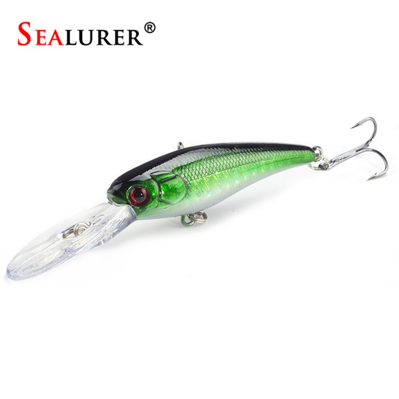 Sealurer Brand 8g/9cm Lifelike Hard Fishing Minnow Lure Artificial Wobbler Floating Japan Carp Pesca Bait Crankbait Tackle sealurer brand big wobbler fishing lures sea trolling minnow artificial bait carp peche crankbait pesca jerkbait