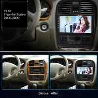 Супер тонкий сенсорный экран Android 8,1 радио gps навигации для hyundai Sonata 2003*2009 стереонаушники Мультимедиа Bluetooth